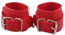 Грас. Наручники BDSM-NEW PVC Handcuffs With Chain, red